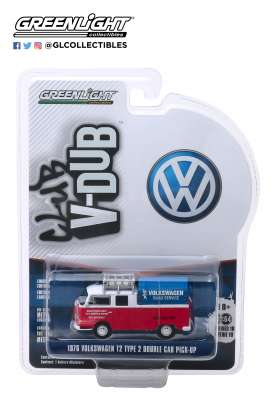 Volkswagen  - Type 2 1976 white/red - 1:64 - GreenLight - 29980E - gl29980E | Tom's Modelauto's
