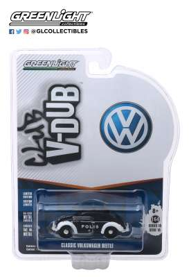 Volkswagen  - beetle white/black - 1:64 - GreenLight - 29980F - gl29980F | Tom's Modelauto's