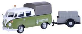 Volkswagen  - T2 pick-up green/white - 1:24 - Motor Max - 79676 - mmax79676 | Toms Modelautos