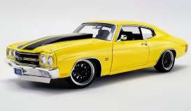 Chevrolet  - Chevelle *Street Fighter* 1970 yellow - 1:18 - Acme Diecast - 1805515 - acme1805515 | Tom's Modelauto's