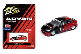 Honda  - Civic Hatchback *Yokomaha* red/black - 1:64 - Johnny Lightning - cp7180 - jlcp7180 | Toms Modelautos