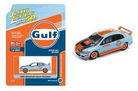 Mitsubishi  - Lancer Evo orange/blue - 1:64 - Johnny Lightning - cp7203 - jlcp7203 | Toms Modelautos