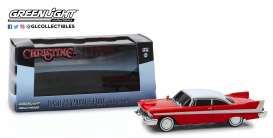 Plymouth  - Fury 1958 red/white - 1:43 - GreenLight - 86575 - gl86575 | Tom's Modelauto's