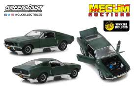 Ford  - Mustang GT 1968 green - 1:18 - GreenLight - 13551 - gl13551 | Tom's Modelauto's