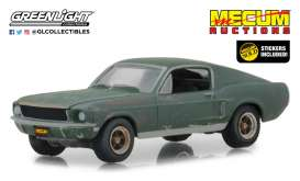 Ford  - Mustang GT 1968 green - 1:64 - GreenLight - 30136 - gl30136 | Tom's Modelauto's