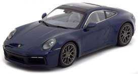 Porsche  - 911 2019 blue - 1:87 - Minichamps - 870068324 - mc870068324 | Toms Modelautos
