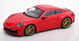 Porsche  - 911 2019 red - 1:87 - Minichamps - 870068320 - mc870068320 | Toms Modelautos