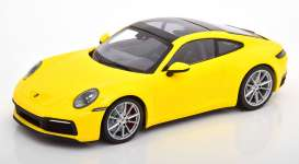 Porsche  - 911 2019 yellow - 1:87 - Minichamps - 870068322 - mc870068322 | Toms Modelautos