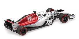 Alfa Romeo Sauber - C37 2018 white/red - 1:43 - Minichamps - 417182109 - mc417182109 | Toms Modelautos