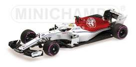 Alfa Romeo Sauber - C37 2018 white/red - 1:43 - Minichamps - 417180409 - mc417180409 | Tom's Modelauto's