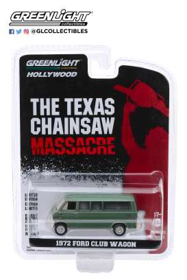 Ford  - Club Wagon 1972 green - 1:64 - GreenLight - 44870A - gl44870A | Tom's Modelauto's