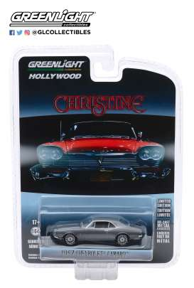 Chevrolet  - Camaro 1969 grey/black - 1:64 - GreenLight - 44870C - gl44870C | Tom's Modelauto's