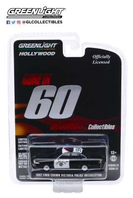Ford  - Crown Victoria 1992 black/white - 1:64 - GreenLight - 44870E - gl44870E | Tom's Modelauto's