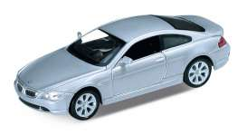 BMW  - 645Ci silver - 1:34 - Welly - 42353Ws - welly42353Ws | Toms Modelautos