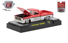Chevrolet  - Silverado 1979 red/silver - 1:64 - M2 Machines - 31500MJS15 - M2-31500MJS15 | Tom's Modelauto's