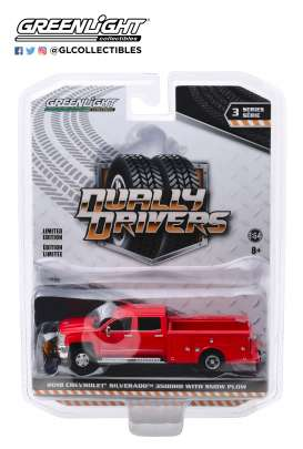 Chevrolet  - Silverado 2018 red - 1:64 - GreenLight - 46030A - gl46030A | Toms Modelautos