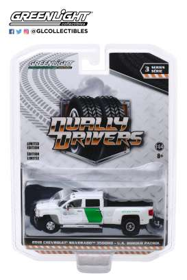 Chevrolet  - Silverado 2018 white/green - 1:64 - GreenLight - 46030B - gl46030B | Tom's Modelauto's