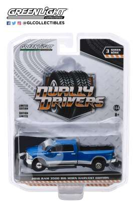 Ram  - Harvest  2018 blue - 1:64 - GreenLight - 46030D - gl46030D | Toms Modelautos
