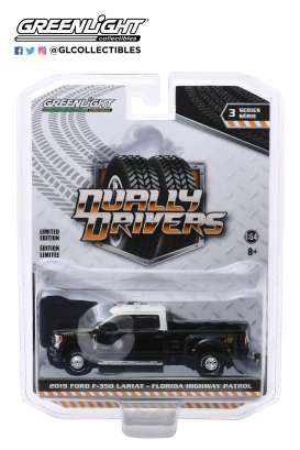 Ford  - F-350 2019 black/white - 1:64 - GreenLight - 46030E - gl46030E | Toms Modelautos