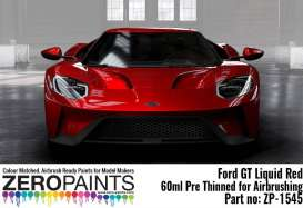 Zero Paints Paint - Ford GT Liquid Red - Zero Paints - ZP1545LR | Toms Modelautos
