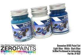 Zero Paints Paint - Benetton B195 blue and white - Zero Paints - ZP1537 | Toms Modelautos