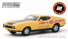 Ford Mustang - Mach 1 1973 yellow/black - 1:43 - GreenLight - 86571 - gl86571 | Tom's Modelauto's