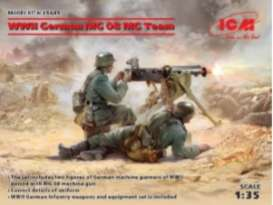 Figures diorama - WWII German MG08 MG Team  - 1:35 - ICM - 35645 - icm35645 | Toms Modelautos