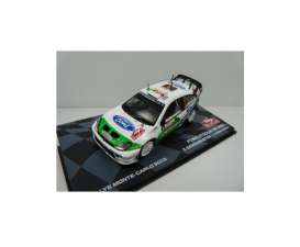 Ford  - Focus Rs WRC #5 2005 white/green - 1:43 - Magazine Models - MagRfwpFocus05 | Toms Modelautos