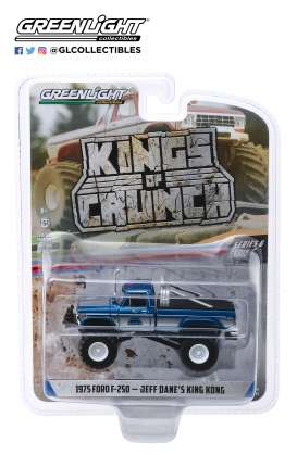 Ford  - F-250 Monster Truck 1975 blue - 1:64 - GreenLight - 49060B - gl49060B | Toms Modelautos