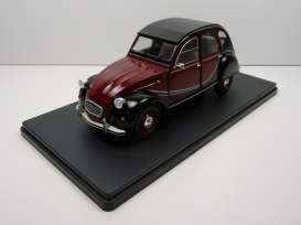 Citroen  - 2CV 1982 black/red - 1:24 - Magazine Models - 24ci2CV - mag24ci2CV | Tom's Modelauto's