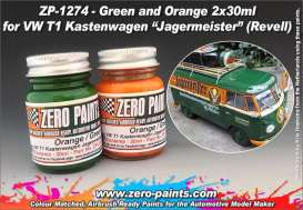 Zero Paints Paint - Jägermeister green and orange - Zero Paints - ZP-1272 - ZP1272 | Tom's Modelauto's
