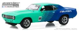Chevrolet  - Camaro 1969 blue/green - 1:43 - GreenLight - 86343 - gl86343 | Toms Modelautos