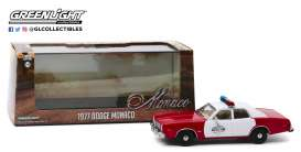 Dodge  - Monaco 1977 red/white - 1:43 - GreenLight - 86573 - gl86573 | Toms Modelautos