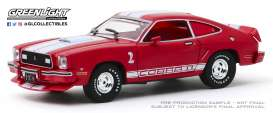 Ford  - Mustang 1976 red/white - 1:43 - GreenLight - 86337 - gl86337 | Tom's Modelauto's