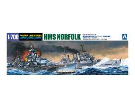 Boats  - British Heavy Cruiser *Norfolk camouflage - 1:700 - Aoshima - 056691 - abk056691 | Tom's Modelauto's