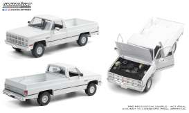 GMC  - K-2500 1982 white - 1:18 - GreenLight - 13562 - gl13562 | Toms Modelautos