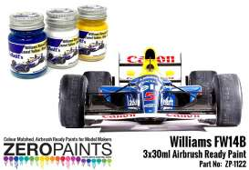 Zero Paints Paint - Williams FW14B Paint Set  - Zero Paints - ZP1122 | Toms Modelautos