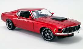 Ford  - Boss 429 Mustang 1970 red - 1:18 - Acme Diecast - 1801836 - acme1801836 | Tom's Modelauto's