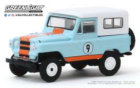 Nissan  - Patrol 1966 blue/white/orange - 1:64 - GreenLight - 47060A - gl47060A | Toms Modelautos