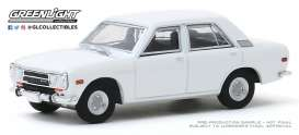 Datsun  - 510 1972 white - 1:64 - GreenLight - 47060B - gl47060B | Toms Modelautos