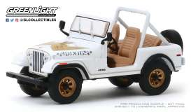 Jeep Mustang - CJ-7 1979 white - 1:43 - GreenLight - 86572 - gl86572 | Tom's Modelauto's