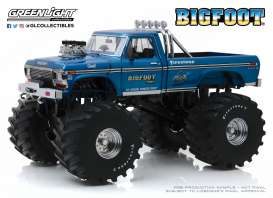 Ford  - F-250 Monster Truck 1974 blue - 1:18 - GreenLight - 13541 - gl13541 | Tom's Modelauto's