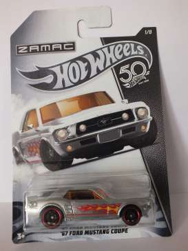 Ford  - Mustang Coupe 1967 silver-chrome - 1:64 - Hotwheels - FRN24 - hwmvFRN24 | Toms Modelautos