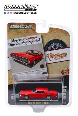 Mercury  - Cougar 1967 red - 1:64 - GreenLight - 39030B - gl39030B | Tom's Modelauto's
