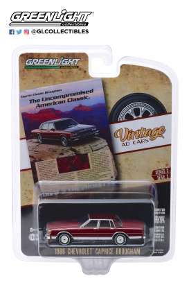 Chevrolet  - Caprice  1986 red - 1:64 - GreenLight - 39030F - gl39030F | Tom's Modelauto's