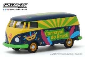 Volkswagen  - T2 Panel Van blue/green/yellow - 1:64 - GreenLight - 30127 - gl30127 | Tom's Modelauto's