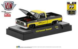 Chevrolet  - Silverado 1979 black/yellow - 1:64 - M2 Machines - 31500MJS17 - M2-31500MJS17 | Tom's Modelauto's