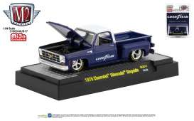 Chevrolet  - Silverado 1979 blue/white - 1:64 - M2 Machines - 31500MJS18 - M2-31500MJS18 | Toms Modelautos