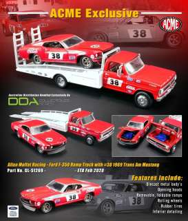 Ford  - Trans Am Mustang & Ramp Truck red/white - 1:64 - Acme Diecast - 51269 - acme51269 | Toms Modelautos