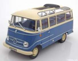 Mercedes Benz  - 1960 blue/beige - 1:18 - Norev - 183411 - nor183411 | Toms Modelautos